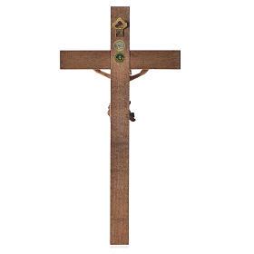 Crocefisso mod. Corpus croce dritta legno Valgardena multipatina s4