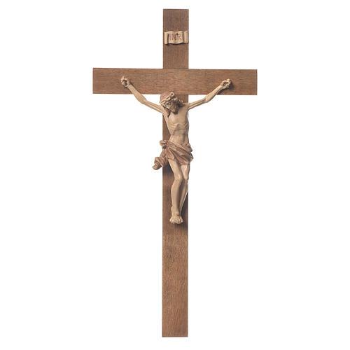Crocefisso mod. Corpus croce dritta legno Valgardena multipatina 1