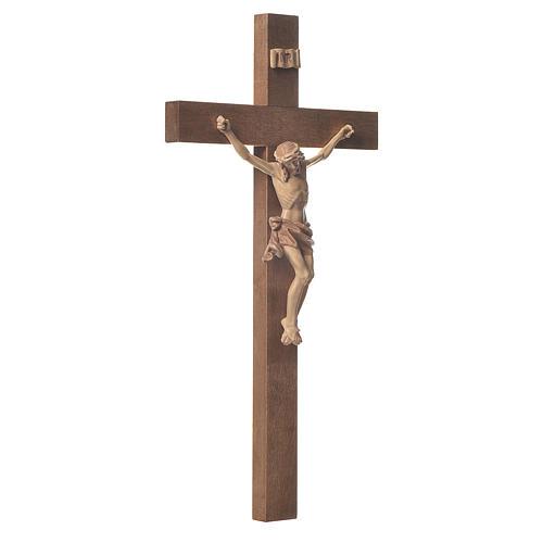 Crocefisso mod. Corpus croce dritta legno Valgardena multipatina 2