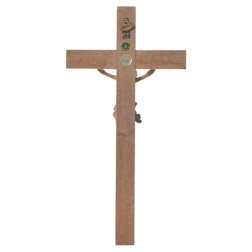 Crocefisso mod. Corpus croce dritta legno Valgardena multipatina 3