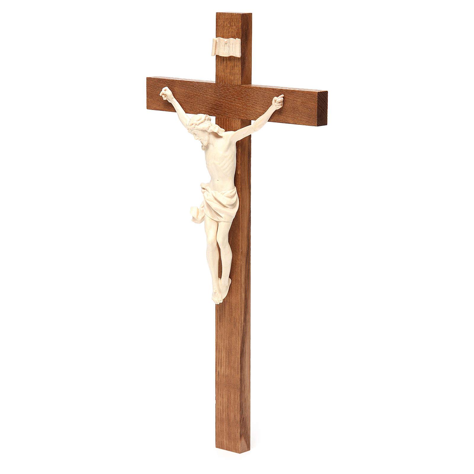 Crucifix, Corpus model, straight in natural wax Valgardena wood 4