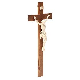 Crucifix, Corpus model, straight in natural wax Valgardena wood s3