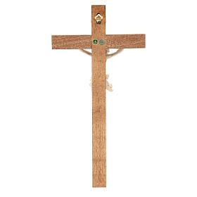 Crucifix, Corpus model, straight in natural wax Valgardena wood s4
