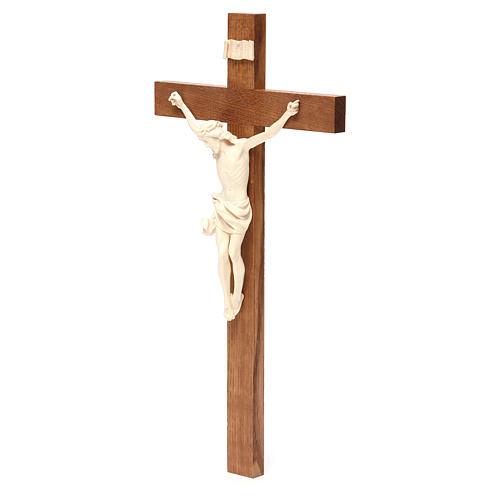 Crucifix, Corpus model, straight in natural wax Valgardena wood 2