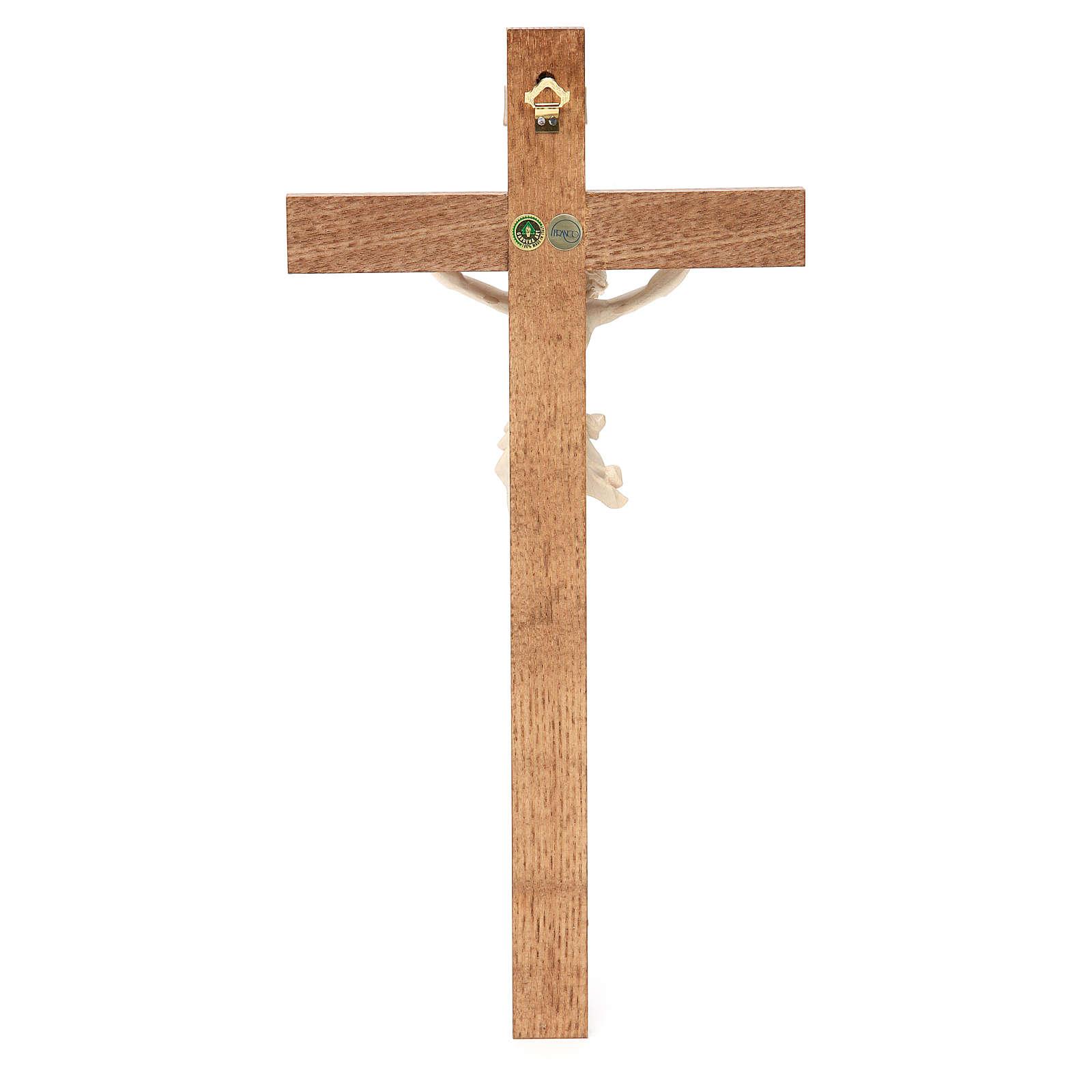 Crocefisso mod. Corpus croce dritta legno Valgardena naturale ce 4