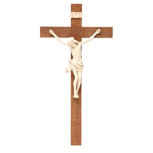 Crocefisso mod. Corpus croce dritta legno Valgardena naturale ce 1