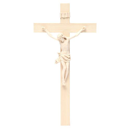 Crocefisso mod. Corpus croce dritta legno Valgardena naturale 1