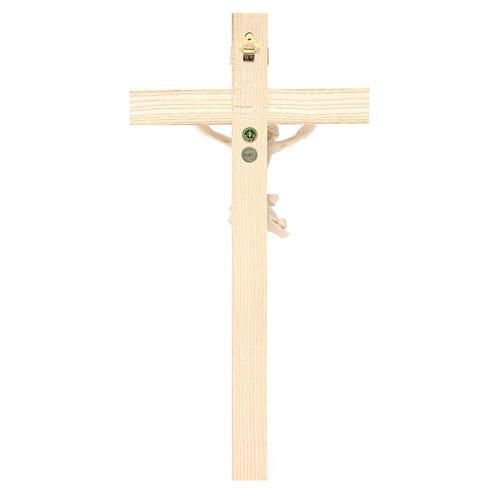 Crocefisso mod. Corpus croce dritta legno Valgardena naturale 4