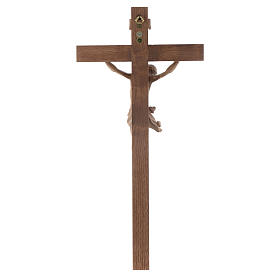 Crucifix, Corpus model, straight in patinated Valgardena wood s4