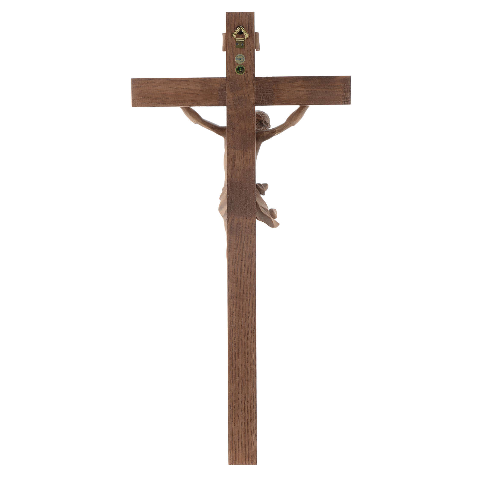 Crucifix, Corpus model, straight in patinated Valgardena wood 4