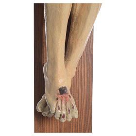 Crucifijo modelo Corpus, cruz recta madera Valgardena Antiguo do s6