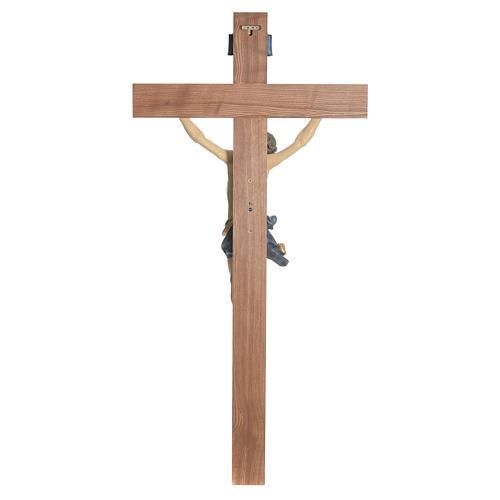 Crucifijo modelo Corpus, cruz recta madera Valgardena Antiguo do 10