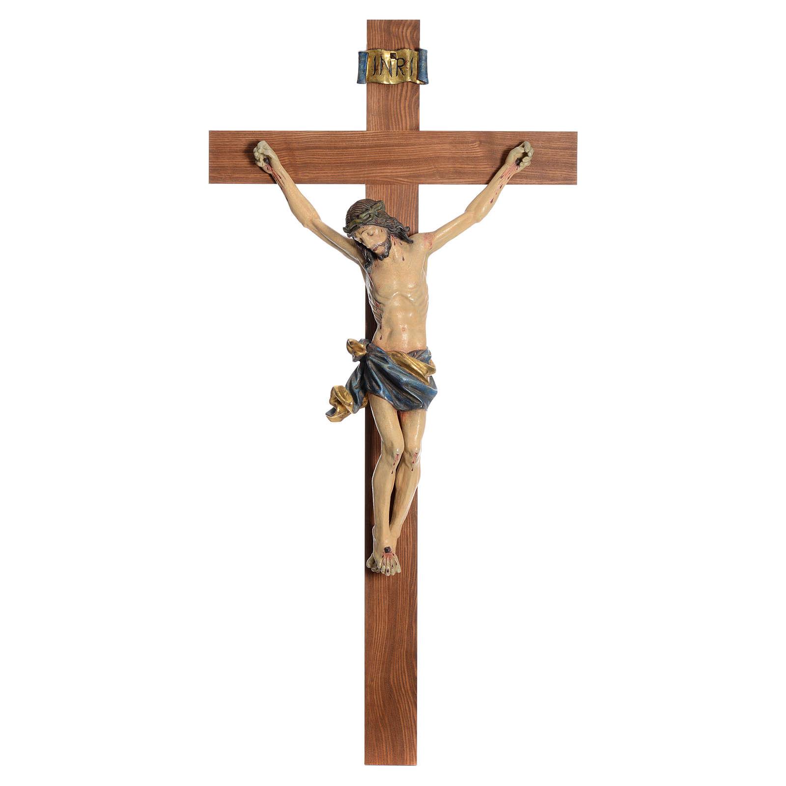 Crocefisso mod. Corpus croce dritta legno Valgardena Antico Gold 4