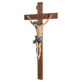 Krucyfiks mod. Corpus krzyż prosty drewno Valgardena Antyczne Złoto s8