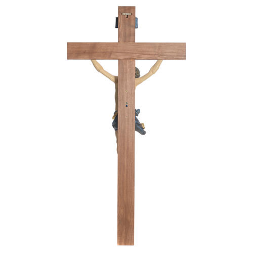 Crucifix, straight, Corpus model in antique gold Valgardena wood 10