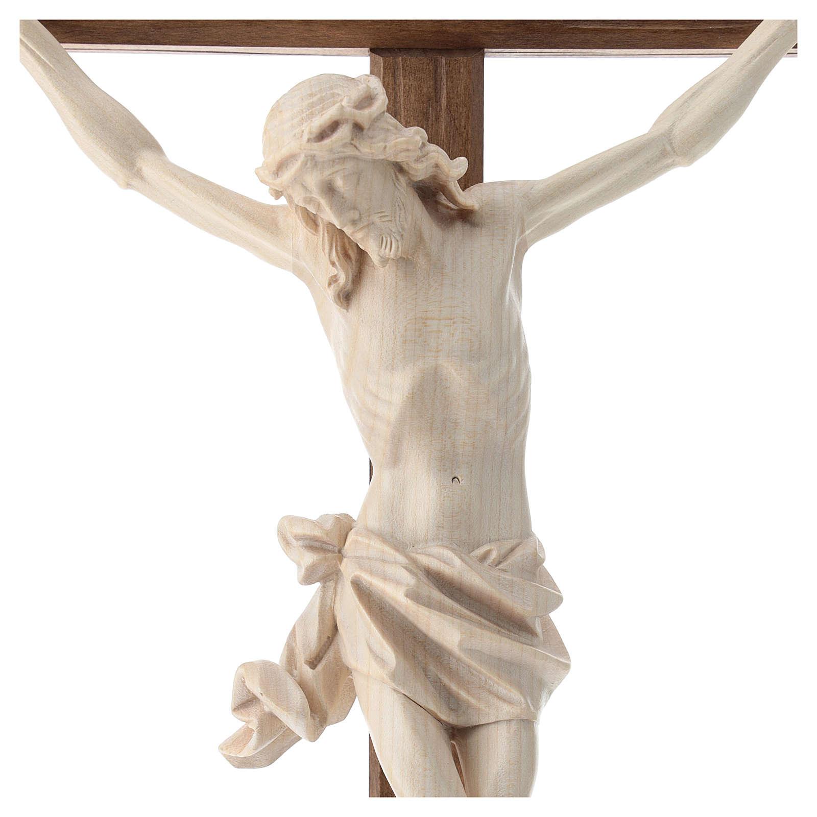Crucifix mod. Corpus droit bois naturel ciré Valgardena 4
