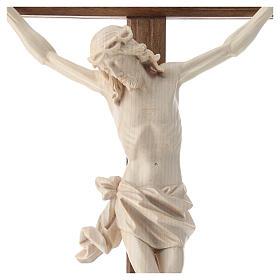 Crucifix mod. Corpus droit bois naturel ciré Valgardena s2