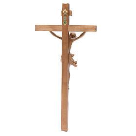 Crucifix, straight, Corpus model in patinated Valgardena wood s2