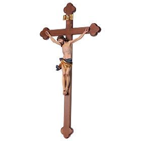 Crucifix, trefoil, Corpus model in painted Valgardena wood s3