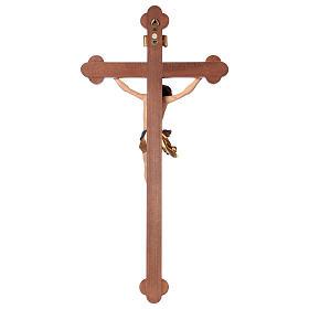 Crucifix, trefoil, Corpus model in painted Valgardena wood s5