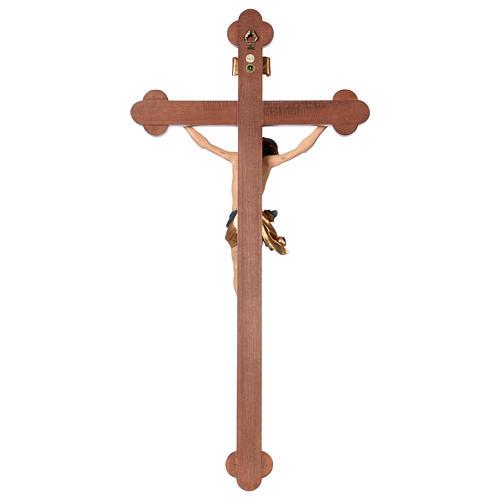 Crucifix, trefoil, Corpus model in painted Valgardena wood 5
