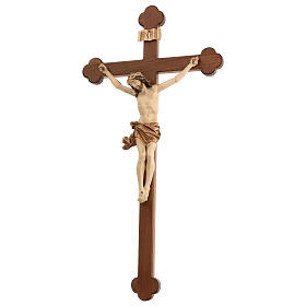 Crucifijo trilobulado modelo Corpus, madera Valgardena varias pa s4