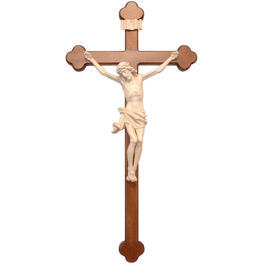 Crucifix trilobé mod. Corpus bois naturel ciré Valgardena 4