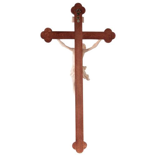 Crucifix, trefoil, Corpus model in natural wax Valgardena wood 5