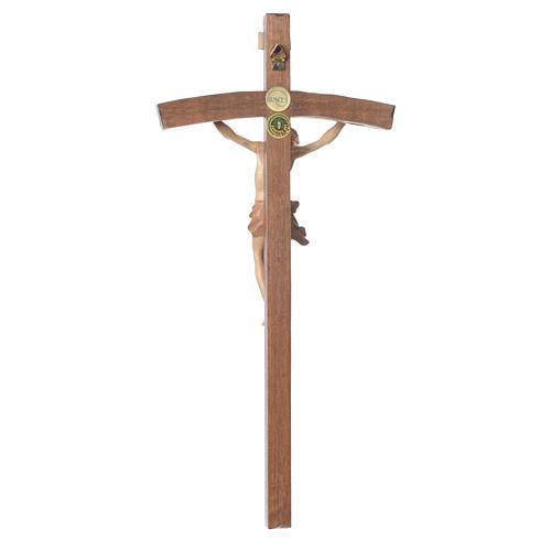 Crocifisso curvo mod Corpus legno Valgardena multipatinato 2
