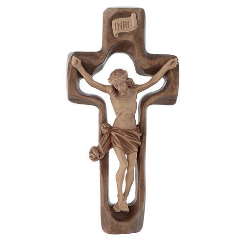 Crucifijo moldeado modelo Corpus, madera Valgardena varias patin 1