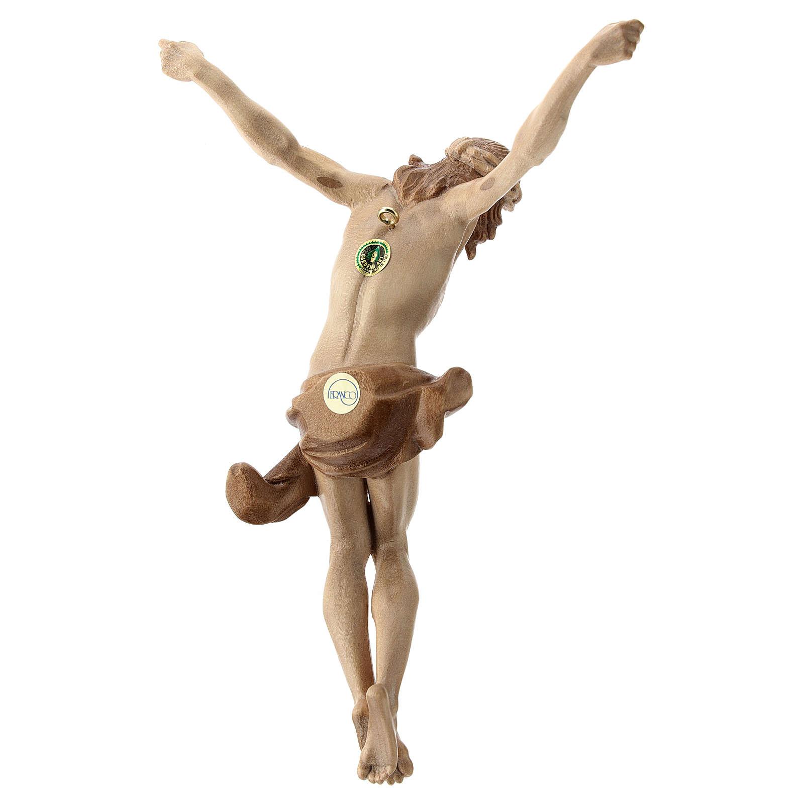 Leib Christi Mod. Corpus aus Grödnertal Holz patiniert 4