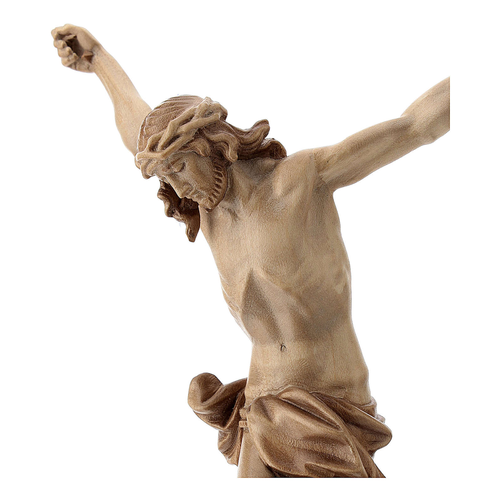 Corps du Christ mod. Corpus Valgardena bois patiné multinuance 4