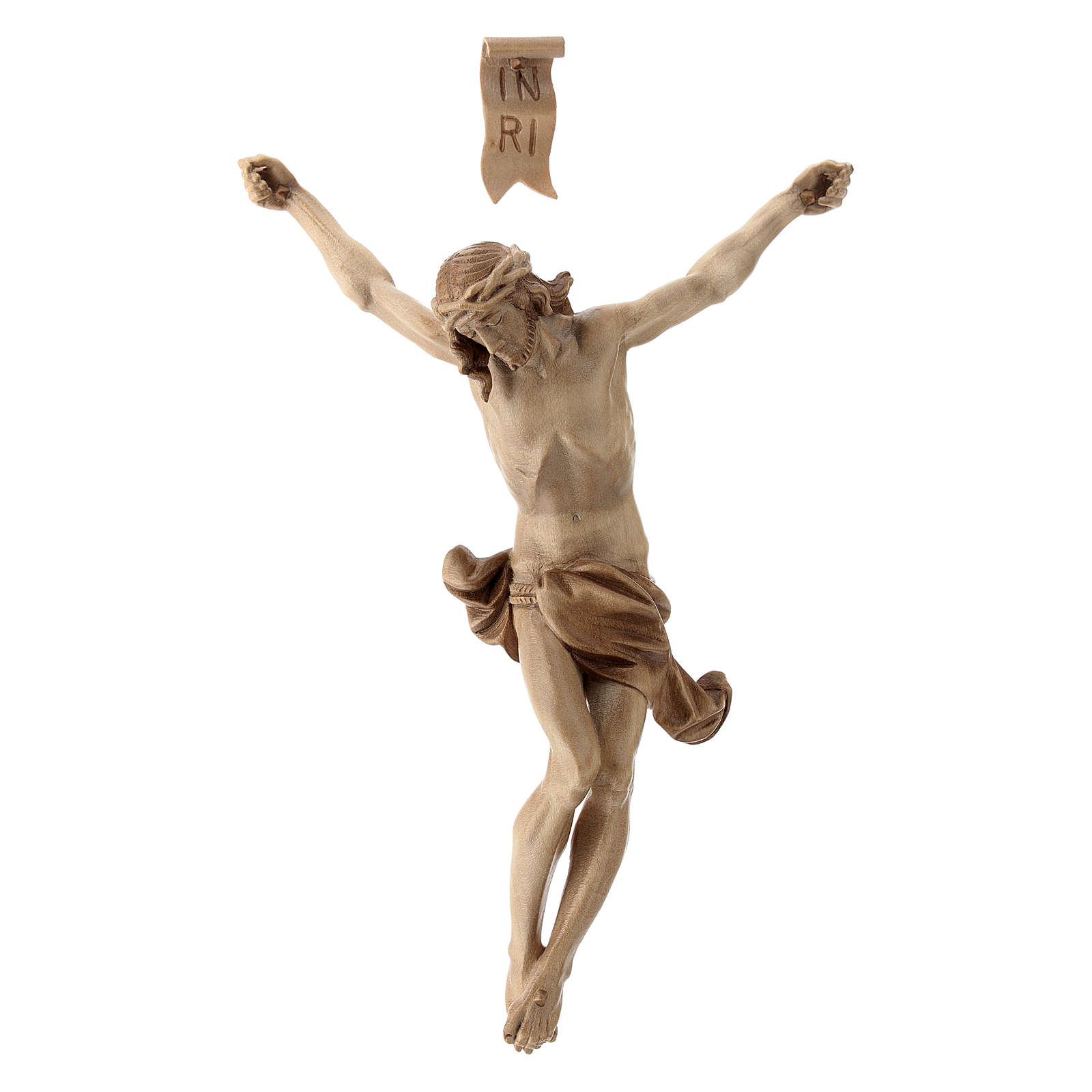 Body of Christ, Corpus model in multi-patinated Valgardena wood 4