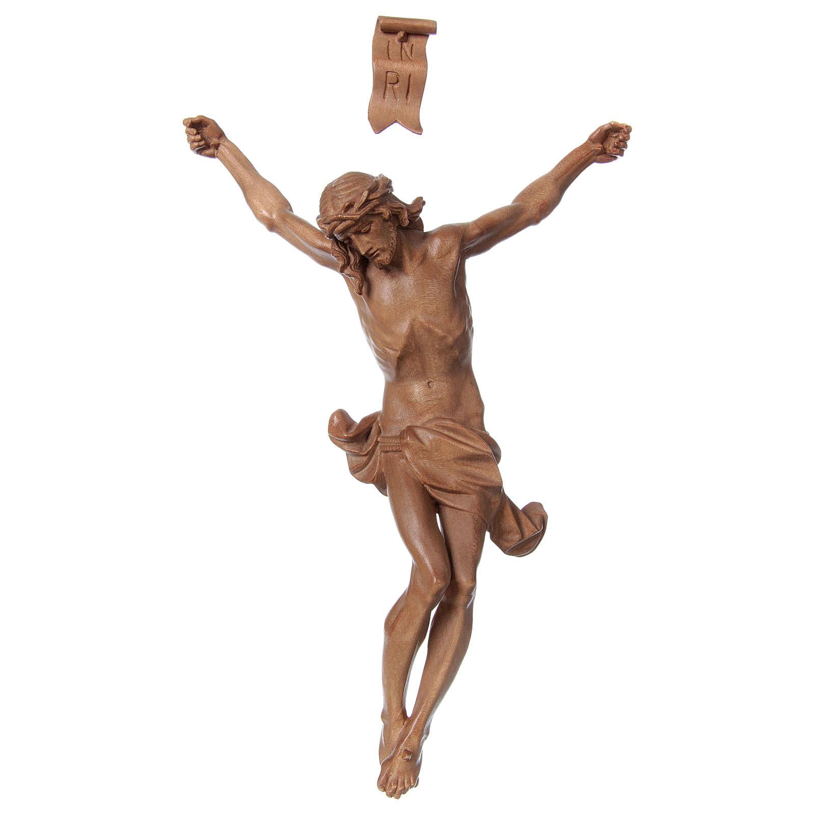 Body of Christ, Corpus model in patinated Valgardena wood 4