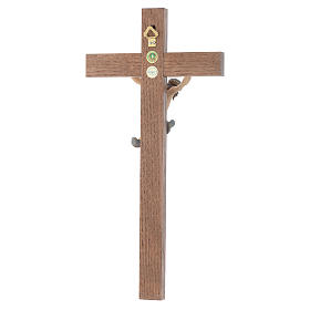 Crucifijo cruz recta modelo Corpus, madera Valgardena pintada s3
