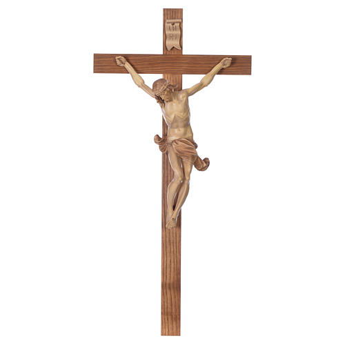 Crocefisso croce dritta mod. Corpus Valgardena multipatinata 1