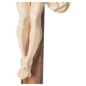 Corpus straight crucifix in natural wax Valgardena wood s16