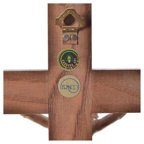 Crucifixo cruz recta Corpus madeira natural encerada Val Gardena 10