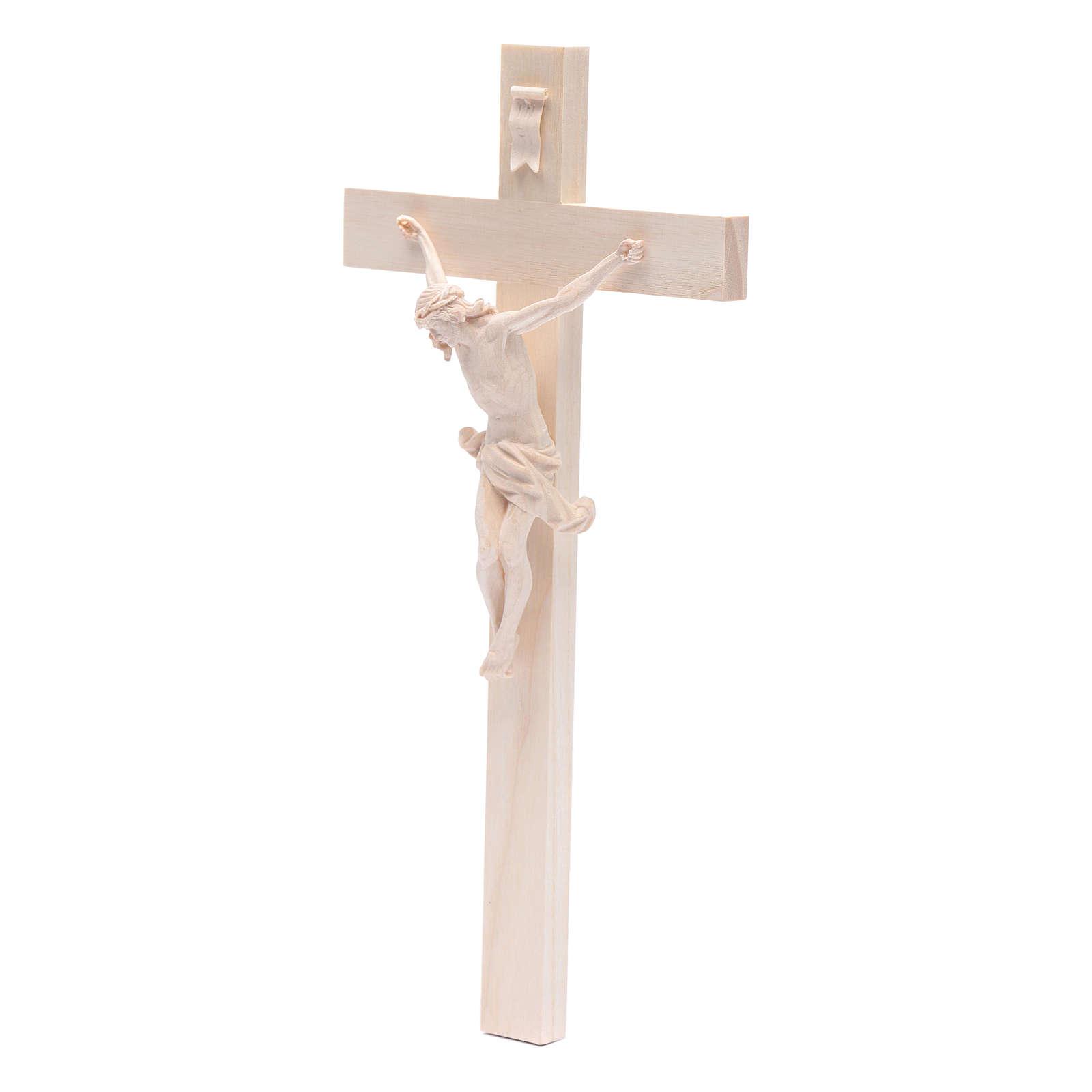 Crocefisso croce dritta mod. Corpus Valgardena naturale 4