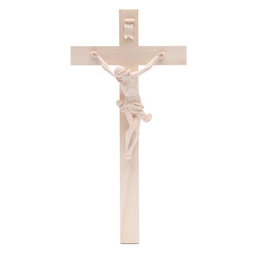 Crocefisso croce dritta mod. Corpus Valgardena naturale 1