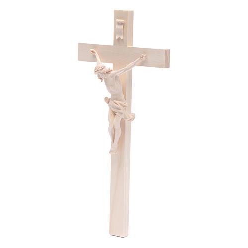 Crocefisso croce dritta mod. Corpus Valgardena naturale 2