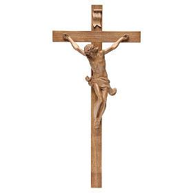 Crocefisso croce dritta mod. Corpus Valgardena patinato s1