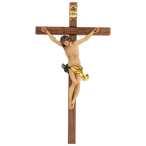 Crocefisso croce dritta scolpita Corpus Valgardena 1