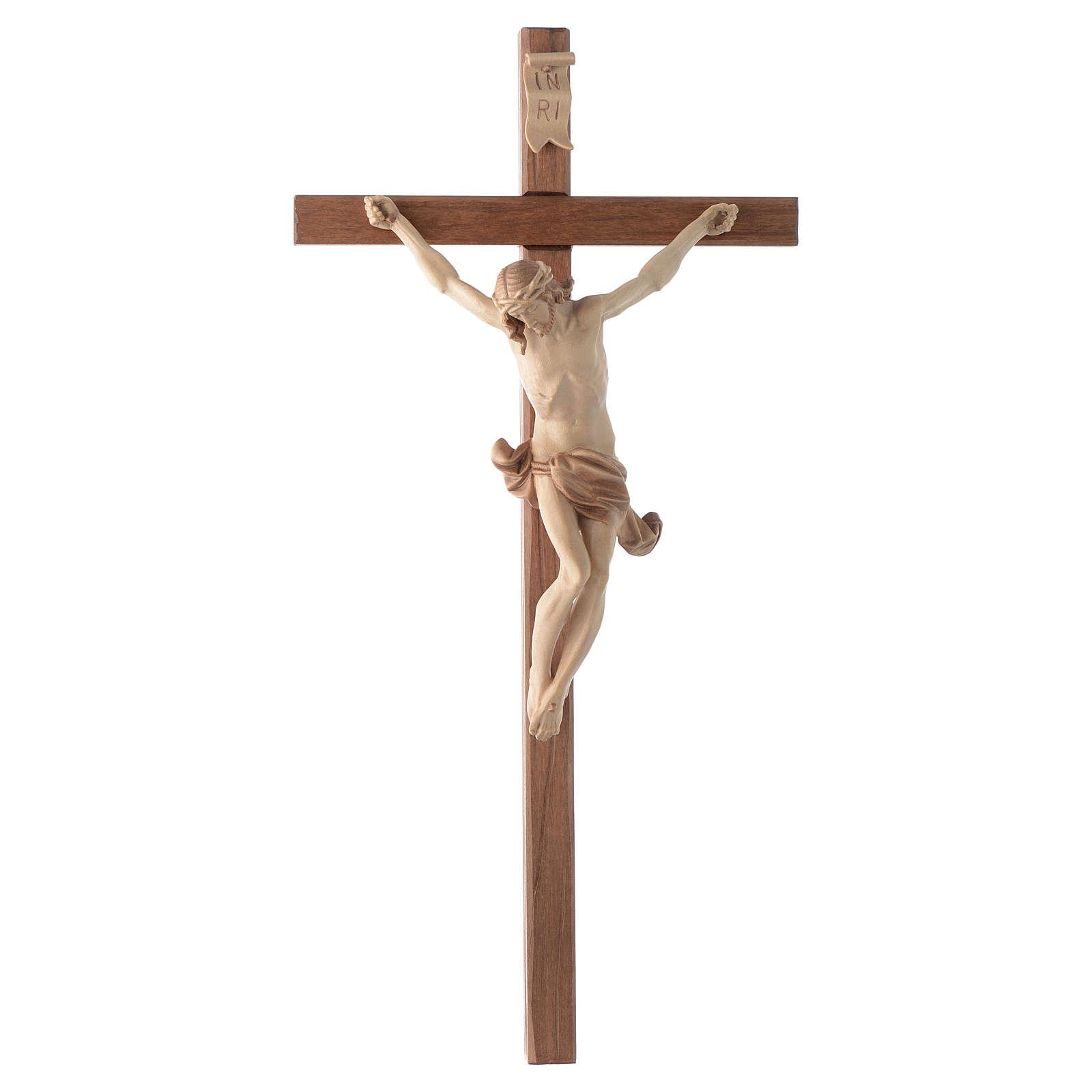 Crocefisso croce dritta scolpita Corpus Valgardena multipatinato 4