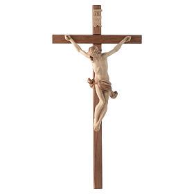 Crocefisso croce dritta scolpita Corpus Valgardena multipatinato s1