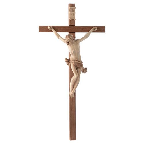 Crocefisso croce dritta scolpita Corpus Valgardena multipatinato 1