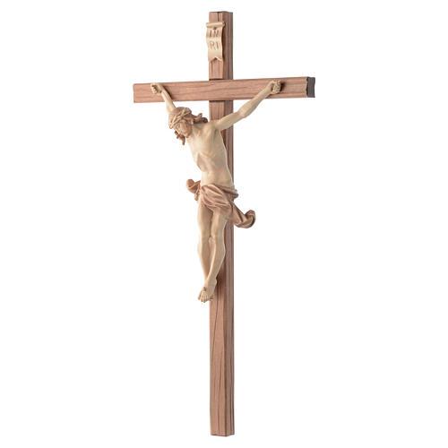 Crocefisso croce dritta scolpita Corpus Valgardena multipatinato 2