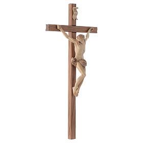 Corpus straight cross in multi-patinated Valgardena wood s3