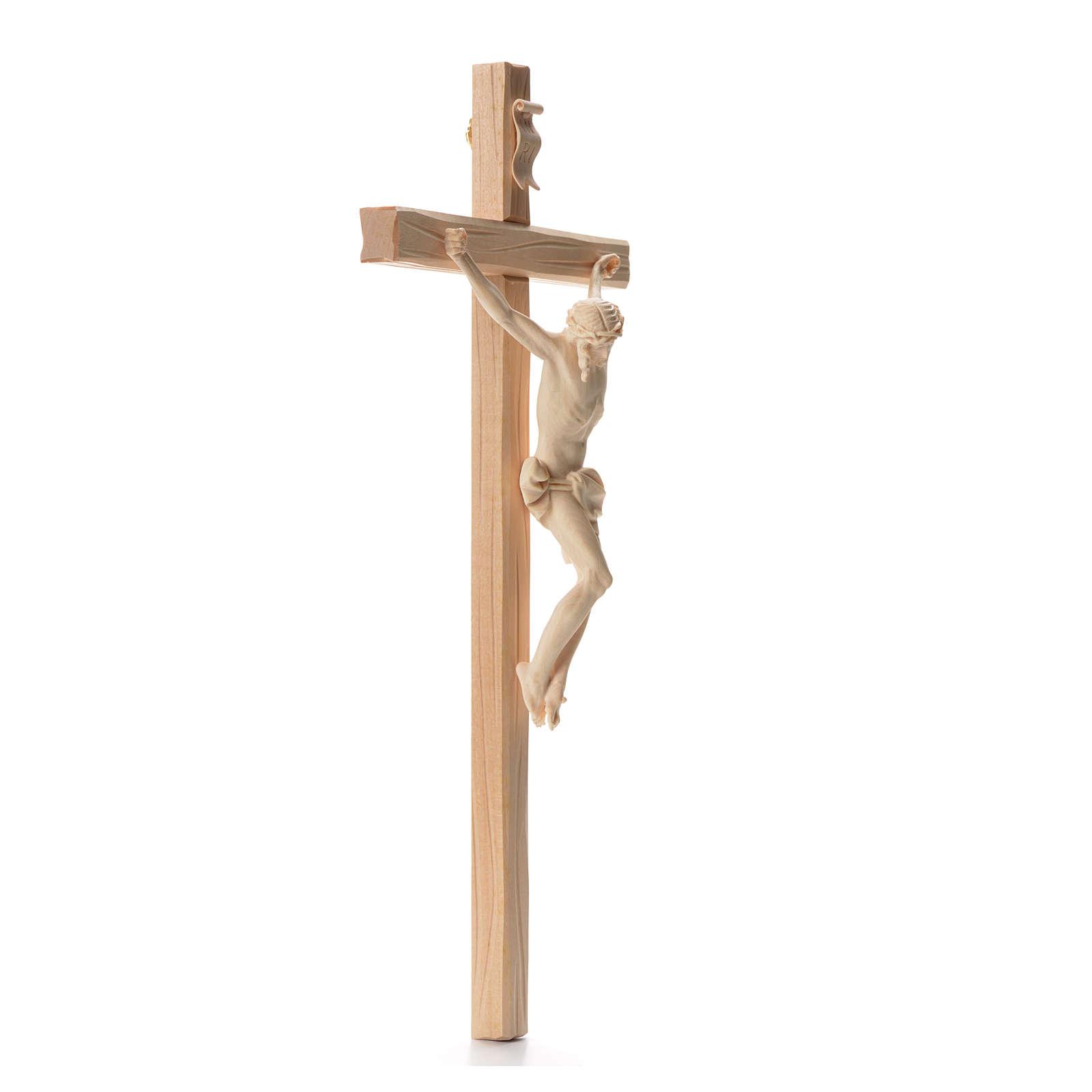 Crocefisso croce dritta scolpita Corpus Valgardena naturale 4