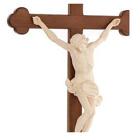 Crucifix trilobé Valgardena mod. Corpus naturel ciré s4